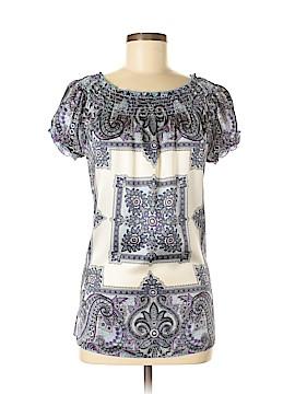 INC International Concepts Short Sleeve Silk Top Size 8