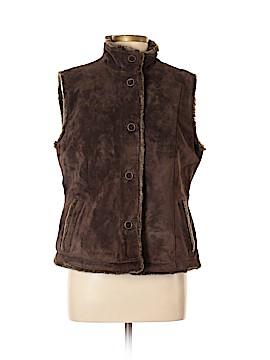 Eddie Bauer Faux Fur Vest Size L