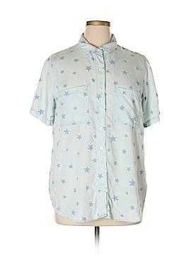 Coldwater Creek Short Sleeve Button-Down Shirt Size 1X (Plus)