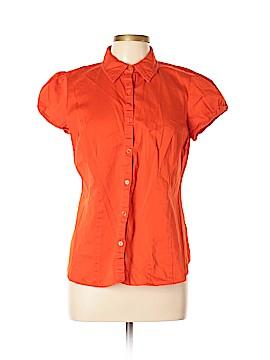Van Heusen Short Sleeve Button-Down Shirt Size L