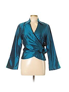 Marisa Baratelli Long Sleeve Silk Top Size 10