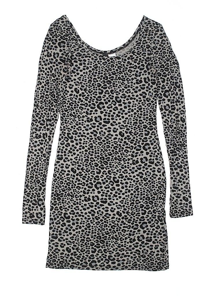 75eb7bf5c H&M Animal Print Gray Casual Dress Size 4 - 60% off | thredUP