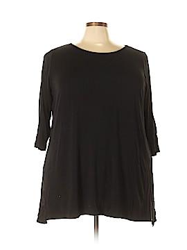 Joan Vass 3/4 Sleeve Top Size 3X (Plus)