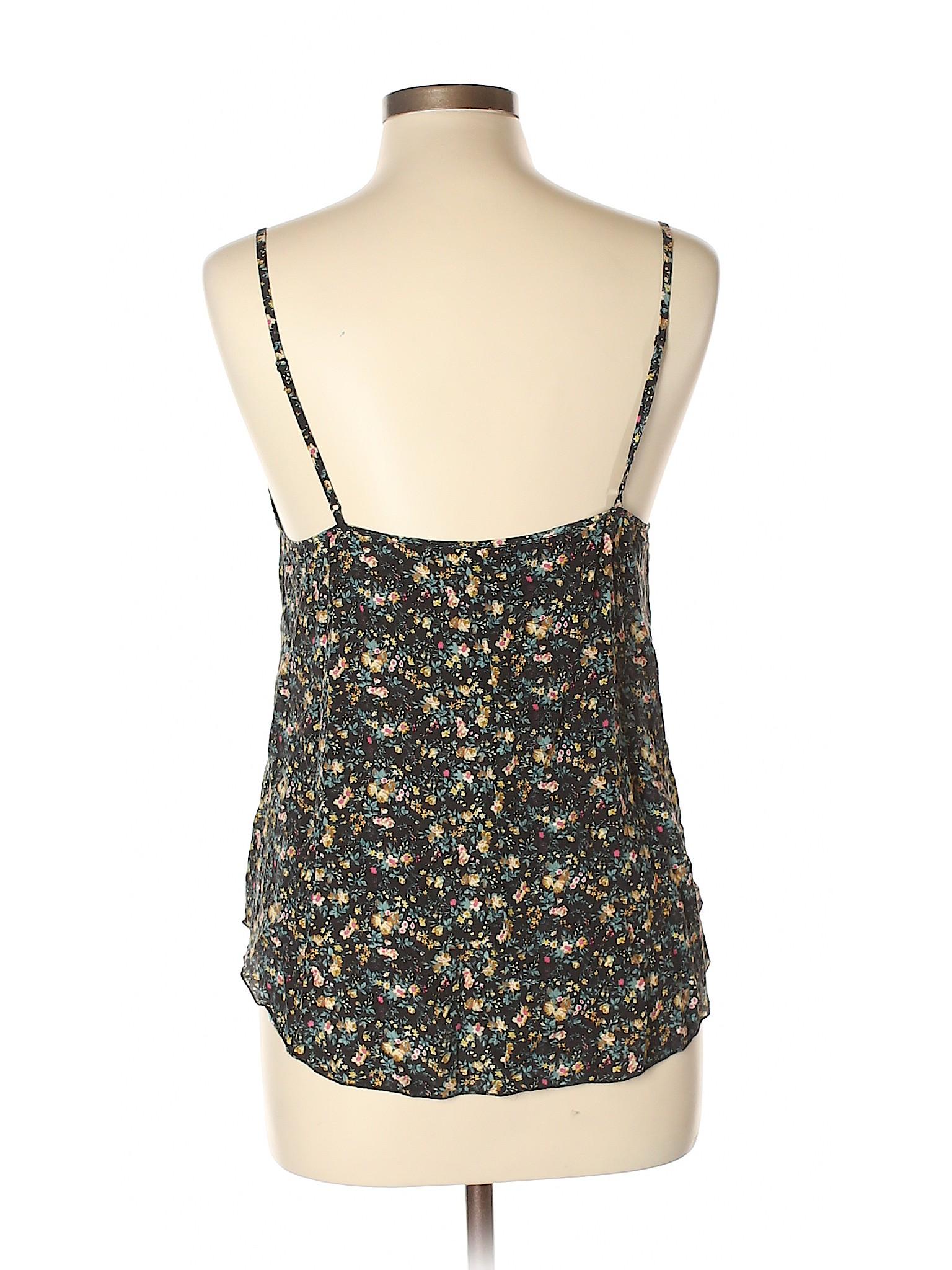 aeb9f28576cd4c Wilfred 100% Silk Floral Black Sleeveless Silk Top Size L - 81% off ...
