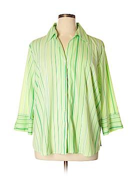 Allison Morgan Long Sleeve Blouse Size 2X (Plus)