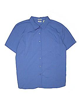 Crossroads Short Sleeve Button-Down Shirt Size 24 (Plus)