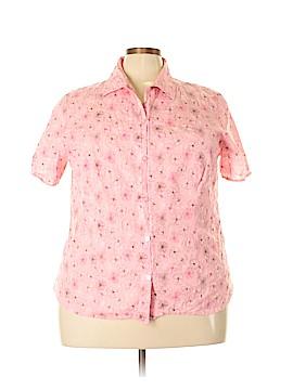 Koret Short Sleeve Button-Down Shirt Size 22 (Plus)