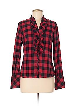 Zoe D. Long Sleeve Button-Down Shirt Size S