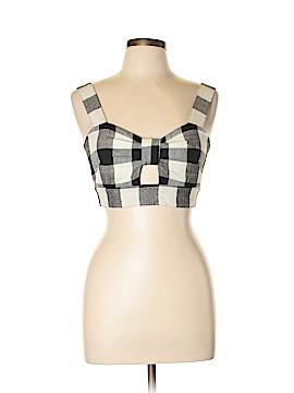 Whit Sleeveless Silk Top Size 8