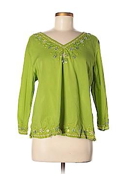 Relativity 3/4 Sleeve Button-Down Shirt Size XL