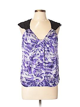 Kenar Short Sleeve Silk Top Size L