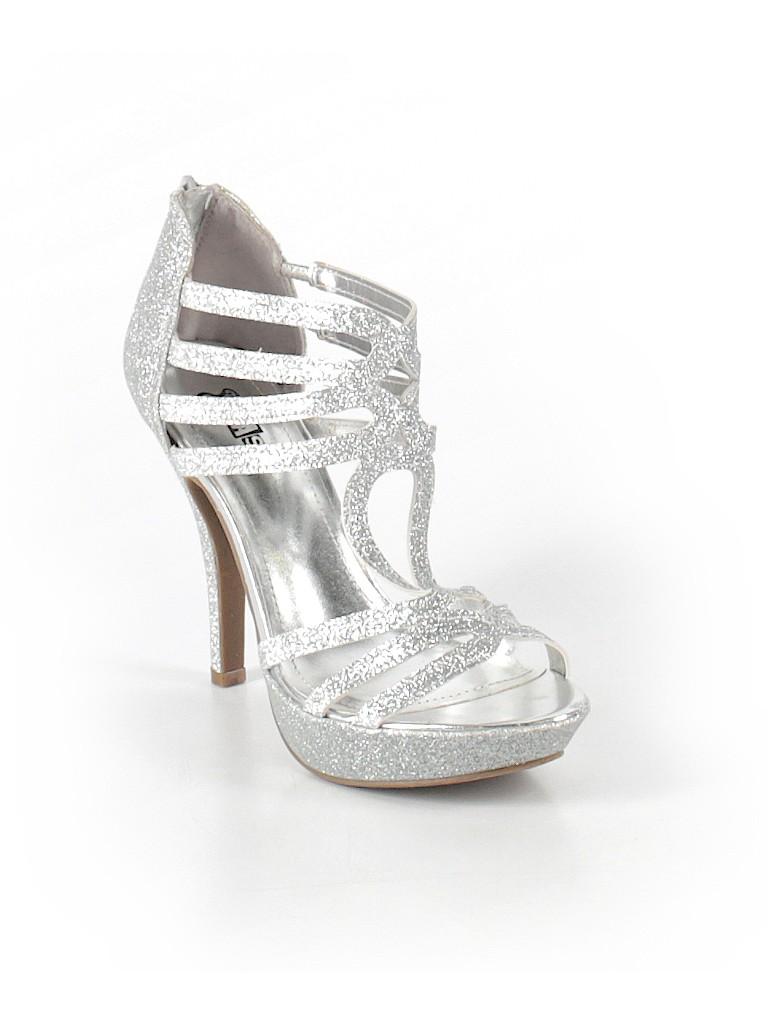 237748635ae Brash Solid Silver Heels Size 6 1 2 - 88% off