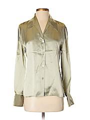 Neiman Marcus Women Long Sleeve Silk Top Size 4
