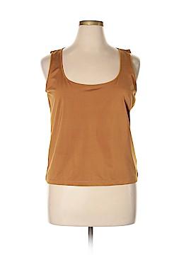 Linda Allard Ellen Tracy Sleeveless Silk Top Size XL