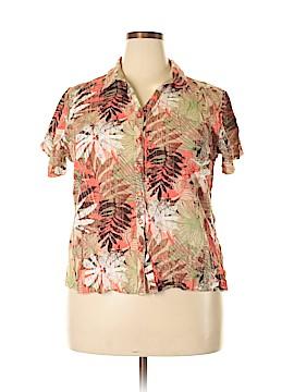 Hillard & Hanson Short Sleeve Button-Down Shirt Size 2X (Plus)