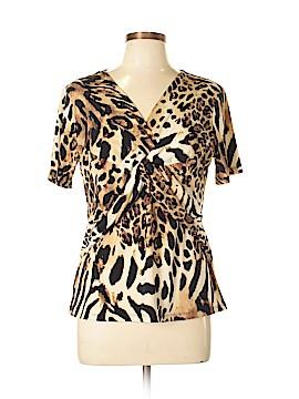 Kasper A.S.L. Short Sleeve Top Size L (Petite)