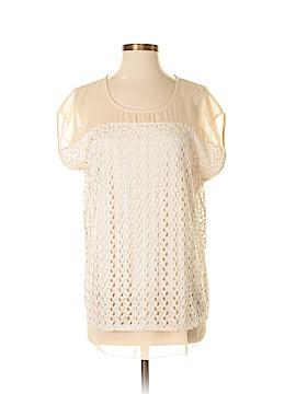 Roz & Ali Short Sleeve Blouse Size L