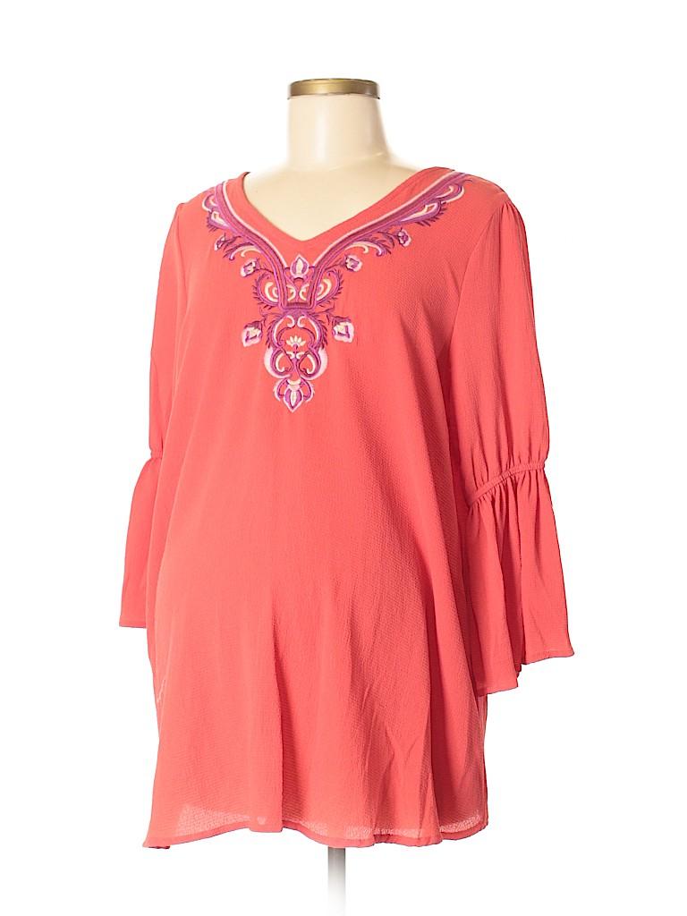 OCTAVIA Maternity Women 3/4 Sleeve Blouse Size M (Maternity)