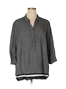 Cynthia Rowley for Marshalls 3/4 Sleeve Blouse Size 2X (Plus)