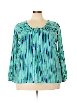 Daisy Fuentes Long Sleeve Blouse Size 1X (Plus)