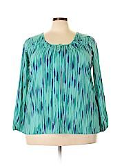 Daisy Fuentes Women Long Sleeve Blouse Size 1X (Plus)