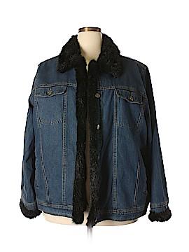 Dennis Basso Denim Jacket Size 2X (Plus)