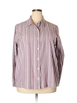 Chic Long Sleeve Button-Down Shirt Size 2X (Plus)