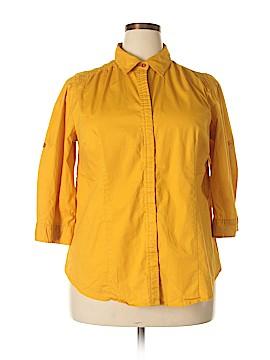 Millenium 3/4 Sleeve Button-Down Shirt Size 2X (Plus)