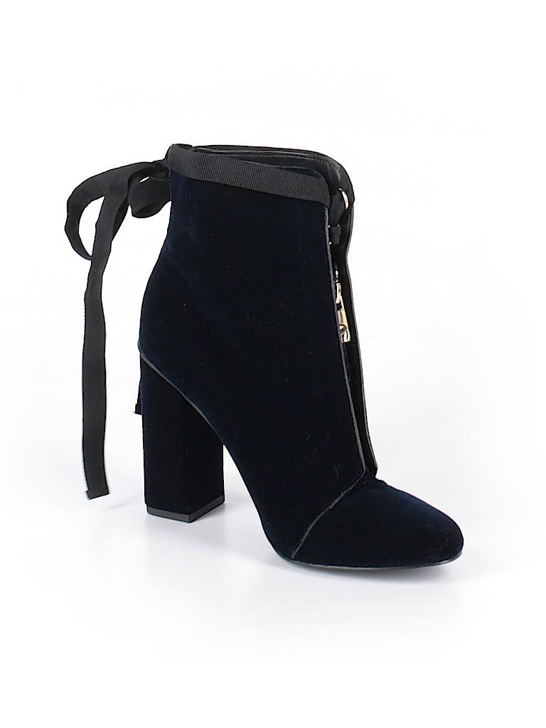 de51f66e915a Zara Solid Dark Blue Ankle Boots Size 38 (EU) - 39% off