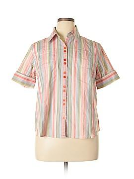 Capri Short Sleeve Button-Down Shirt Size 1X (Plus)
