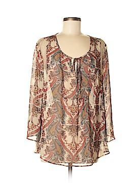 Black Rainn 3/4 Sleeve Button-Down Shirt Size XL
