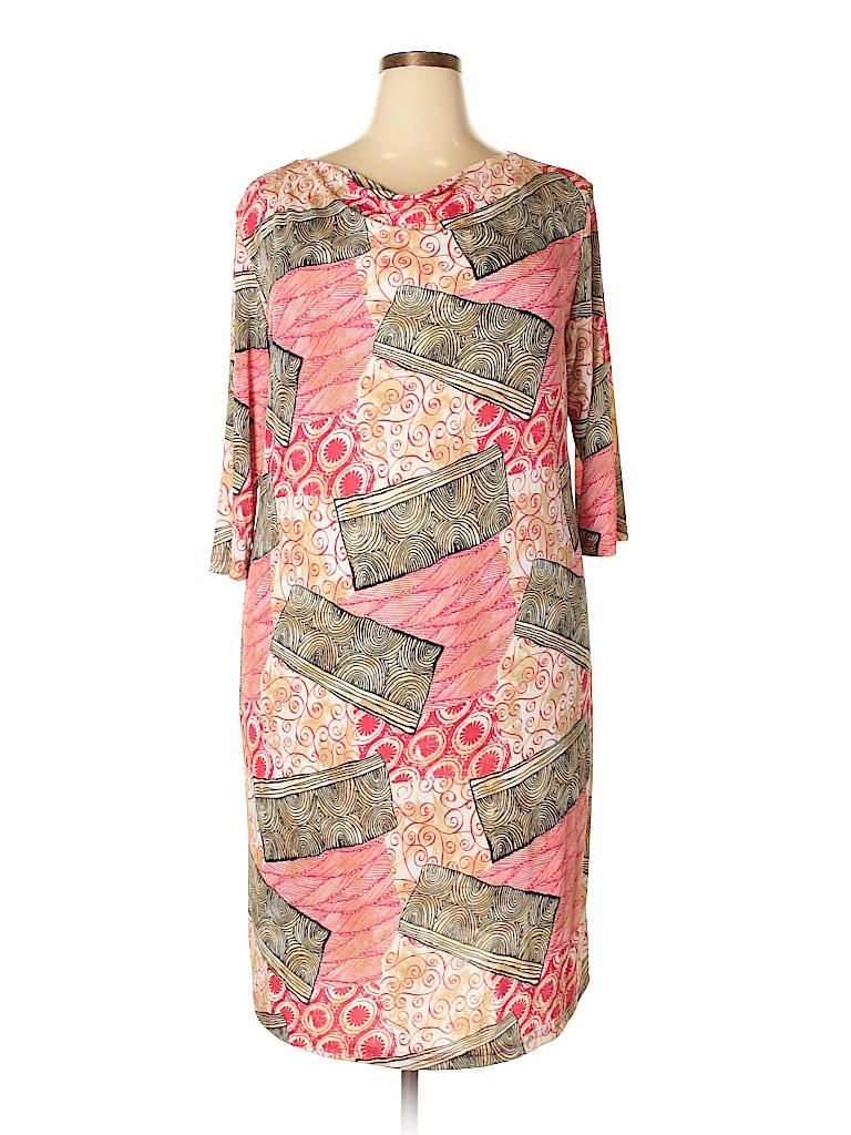 Carolyn Strauss Women Casual Dress Size 1X (Plus)