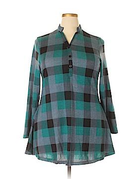 Roxy Long Sleeve Button-Down Shirt Size 1X (Plus)