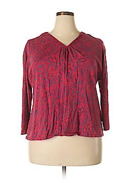 Liz & Co 3/4 Sleeve Top Size 3X (Plus)