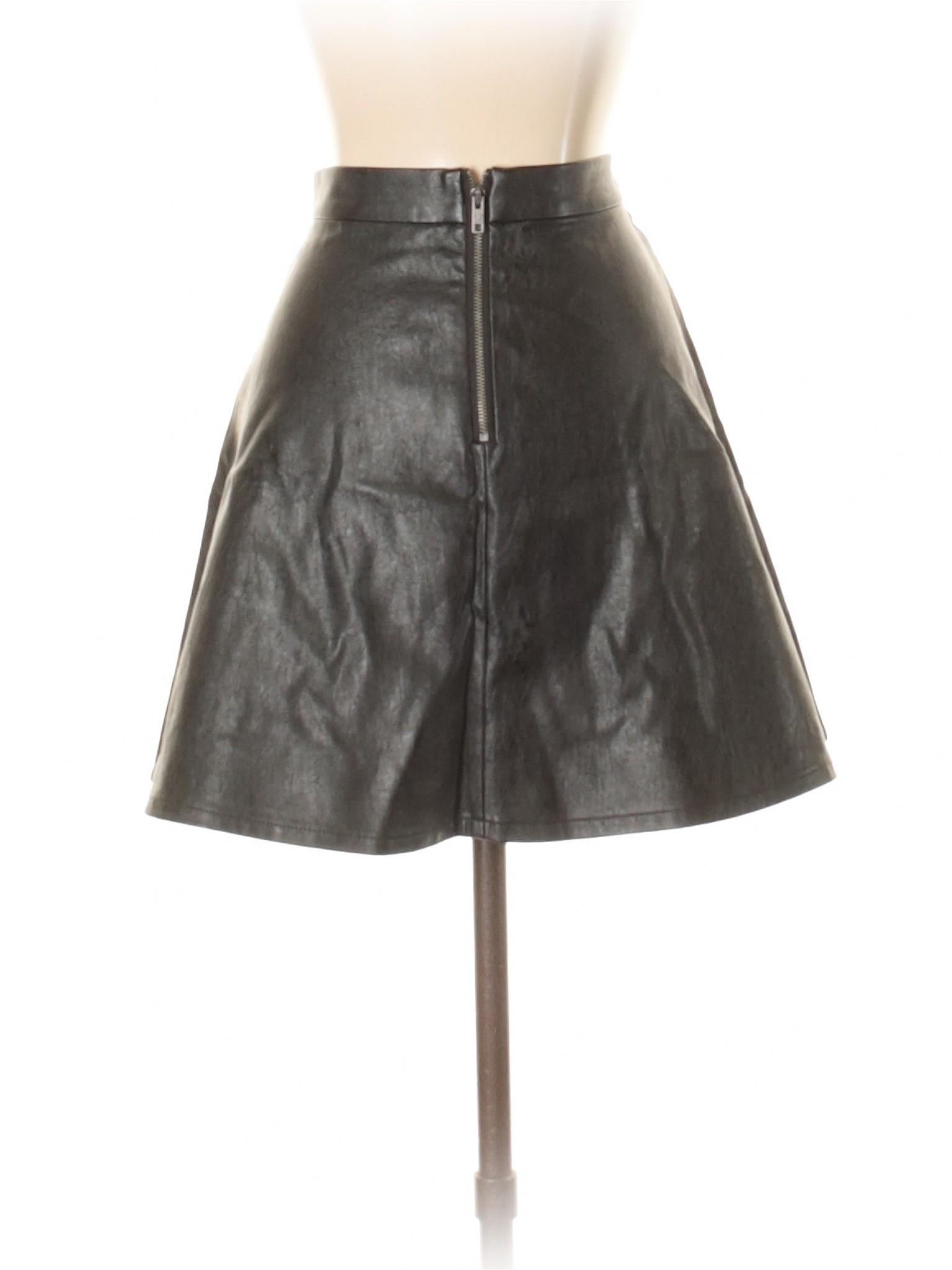 Boutique Faux Skirt Leather Leather Boutique Skirt Faux Swwqa