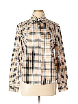 Burberry Long Sleeve Button-Down Shirt Size L