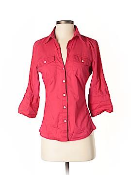 Sandra Ingrish 3/4 Sleeve Button-Down Shirt Size XS