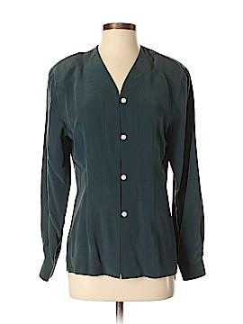 Firenze Long Sleeve Silk Top Size S