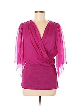 Catherine Malandrino 3/4 Sleeve Silk Top Size 8