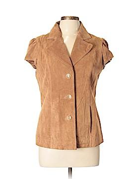 IMAN Leather Jacket Size M