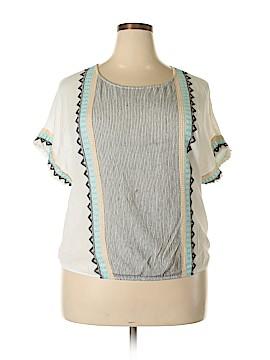 Democracy Short Sleeve Blouse Size 1X (Plus)