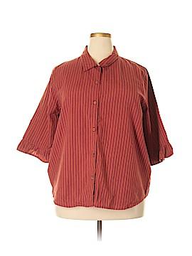 Carolina Colours 3/4 Sleeve Button-Down Shirt Size 20w (Plus)