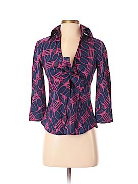 Diane von Furstenberg 3/4 Sleeve Button-Down Shirt Size 2