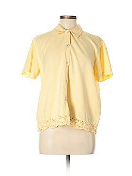 Lemon Grass Short Sleeve Button-Down Shirt Size M