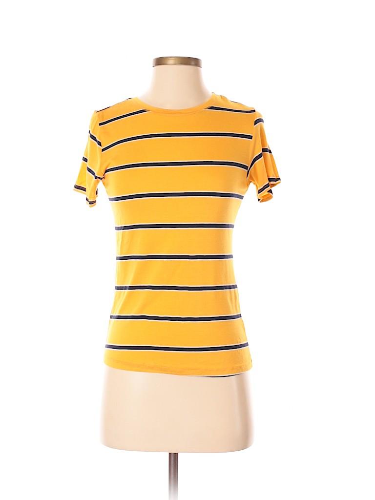 056e1bcf Zara Stripes Yellow Short Sleeve T-Shirt Size S - 50% off | thredUP