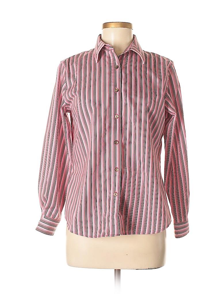 Foxcroft Women Long Sleeve Button-Down Shirt Size 6 (Petite)