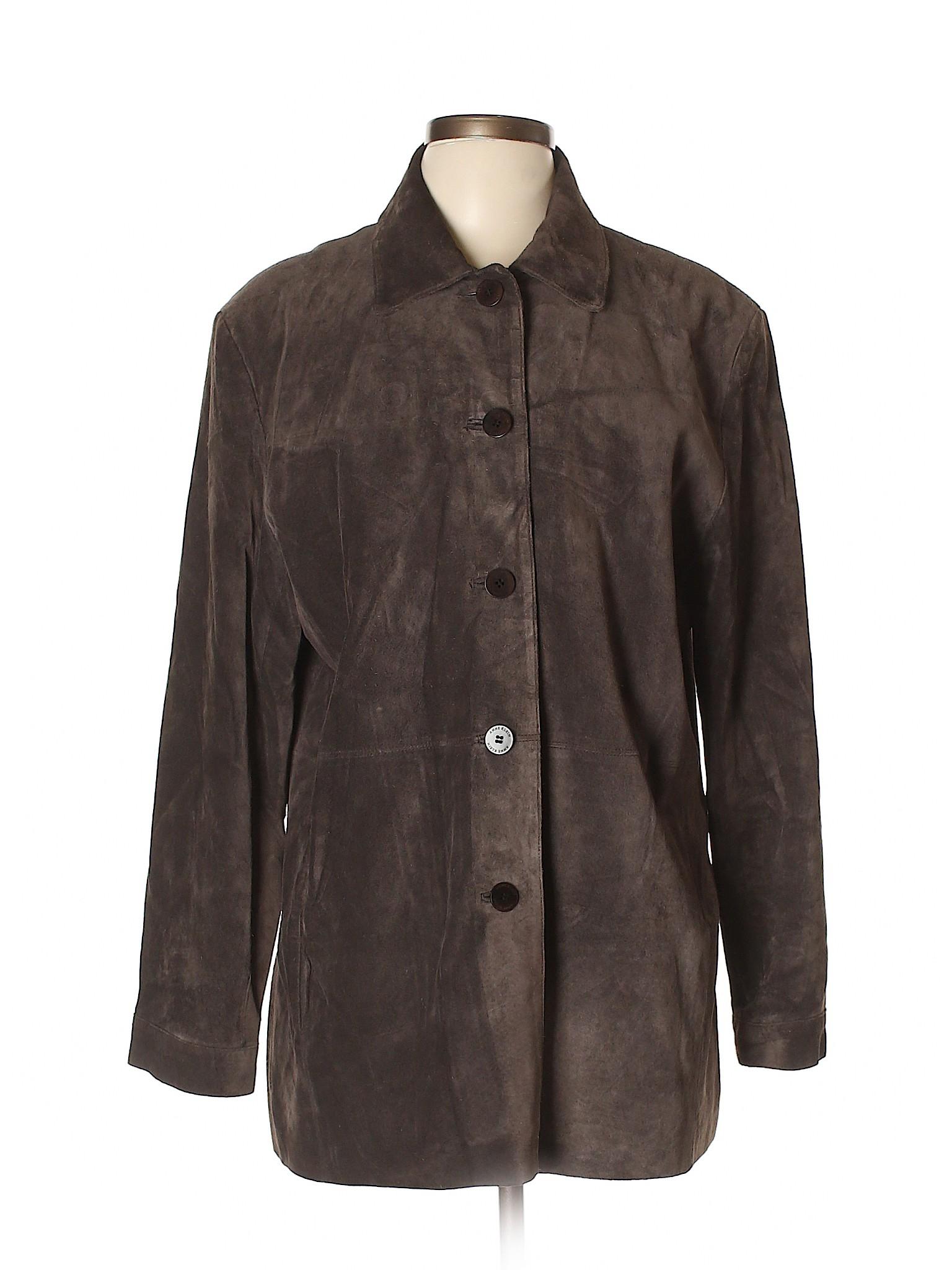 Anne Klein Leather Jacket winter Leisure xfw05YqZ