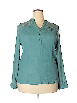 Perch by Blu Pepper Long Sleeve Blouse Size 2X (Plus)