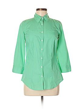 Van Heusen 3/4 Sleeve Button-Down Shirt Size XS