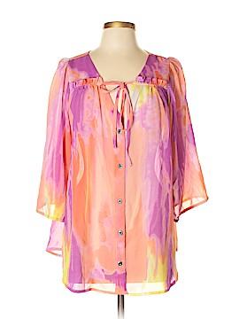 Nine West 3/4 Sleeve Blouse Size XL